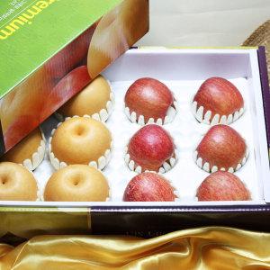 고급 사과 배 혼합세트 과일선물세트 대(배6+사과6)
