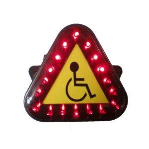 전동휠체어용 LED 안전 삼각등 후미등 배선타입
