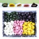 수제오색송편 3가지맛(꿀깨/완두앙금/기피앙금)2.4kg