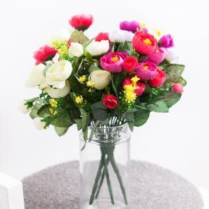 러넌장미부쉬o 30cm (4컬러) l 조화 꽃 가지 FAIAFT