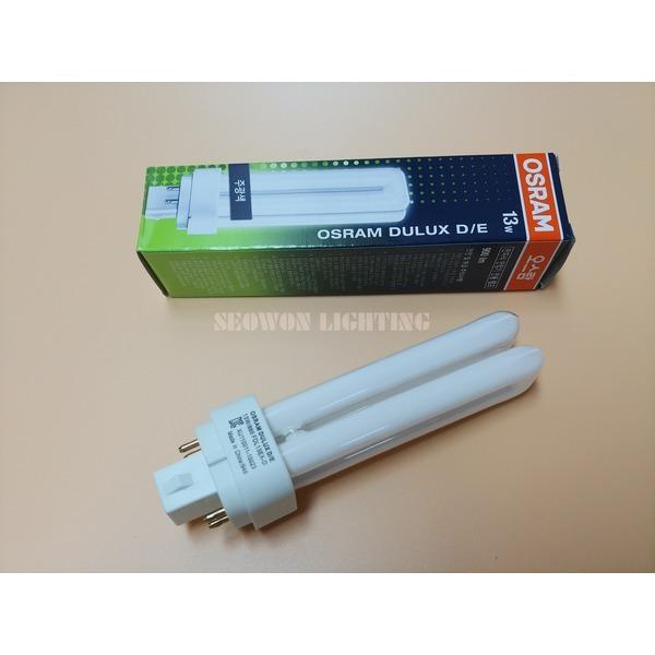 DULUX D/E 13W 865 840 830 주광색 백색 전구색 4핀