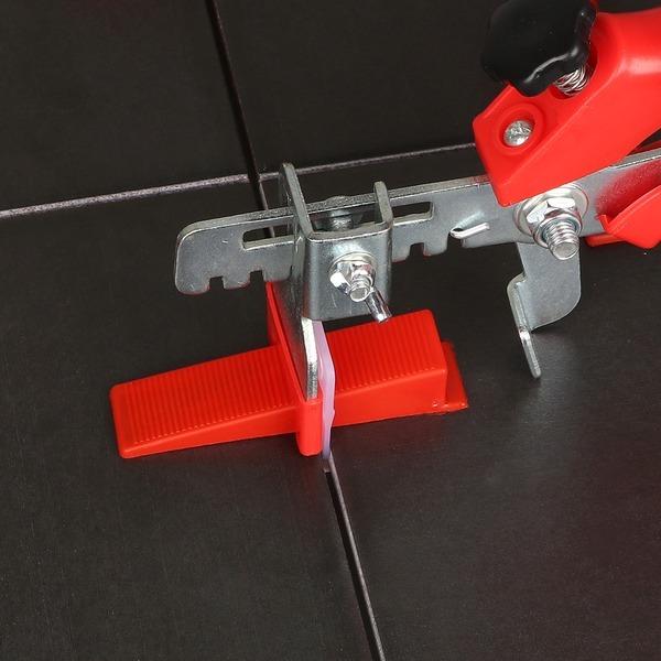 타일수평 평탄클립 쐐기 집게 간격 1.5mm 100개