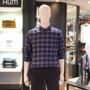 대구백화점 I관   HUM 단기모 체크 셔츠(HNFCSL112PNA)