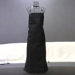 음식점 주방 위생 업소 공방 작업 방수 앞치마 블랙