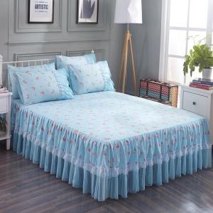 침대커버 공주 침대스커트 한벌 레이스 침대시트