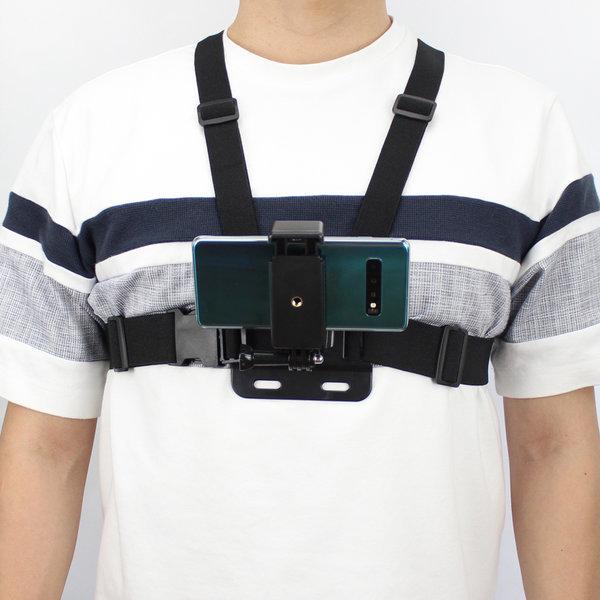 스마트폰 스트랩 체스트 액션캠 바디 마운트 삼성 LG