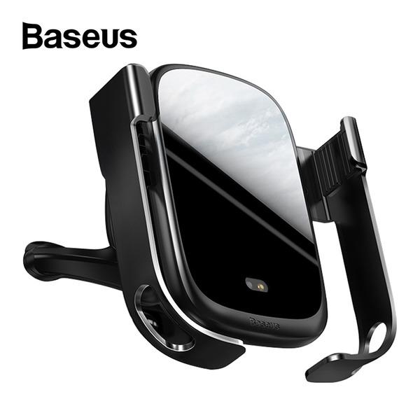 베이스어스 센서형 무선 충전 차량용 거치대 블랙