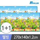 1+1 뽀로로음악대 웰빙 놀이방매트 270x140x1.2cm 유아