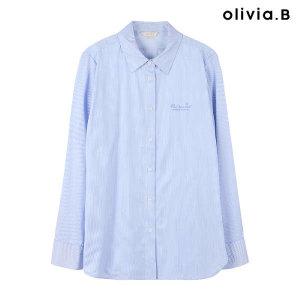 (현대Hmall) OLIVIA.B  씬스트라이프 컬러 셔츠_VBCNLVF8161_53