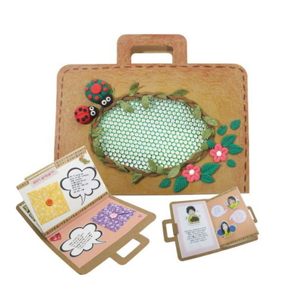 가방 모양 북아트 만들기 세트 재료(10인용)(이지피아