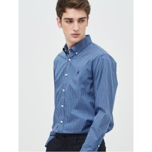빈폴  SLIM  블루 코튼 스몰 윈도우 체크 셔츠 (BC9264A22P)
