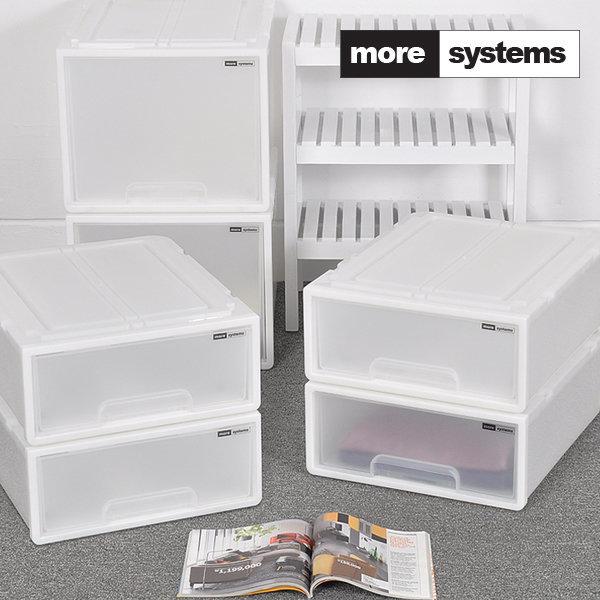 시스템 서랍장 소형 4개세트/플라스틱 수납장 정리함 공간박스