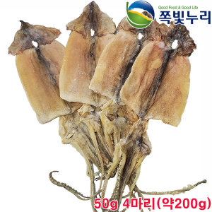 오징어 마른오징어 건오징어 4마리(약200g) from동해안