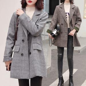여성자켓 체크 하프코트 아우터 여자정장 가을신상