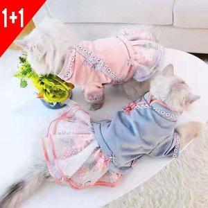 봄이네애견샵 1+1행사 강아지 고양이 치파오 원피스