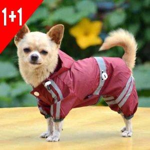 봄이네애견샵 1+1행사 강아지 여름옷 레인코트 우비