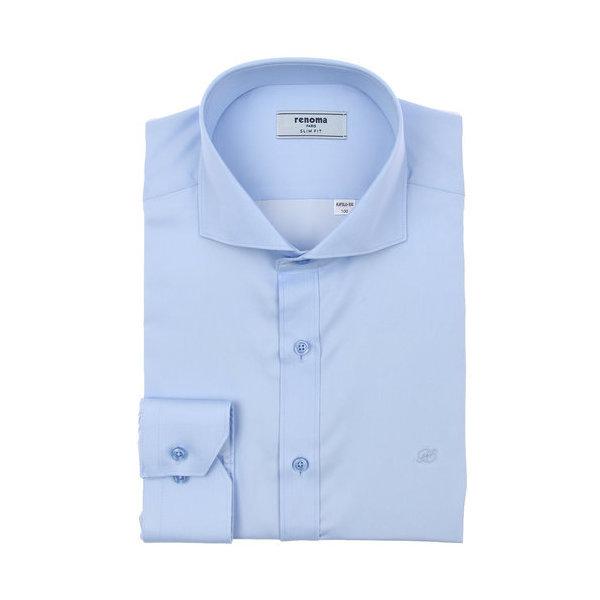 19년 F/W 신상품 C/P 새틴 솔리드 와이드 긴소매와이셔츠 (슬림핏) RJFSL0-103-BU/블루(갤러리아)