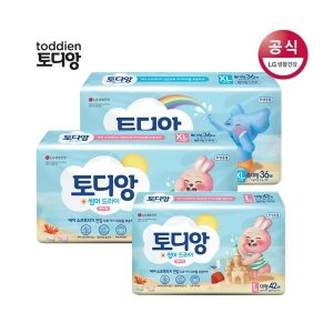 토디앙 썸머드라이 팬티 기저귀 대/특대 3팩(남/여)