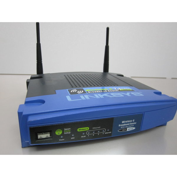 중고NO테스트 LINKSYS Wireless-G Router WRT54G 120V
