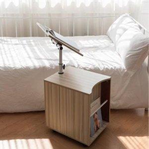 쿠션몽베드트레이 침대노트북테이블 책상 사이드테이