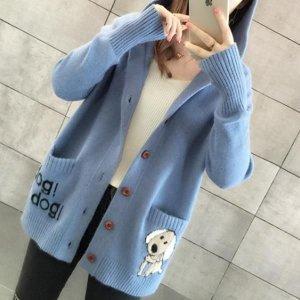 여성 니트 가디건 스웨터 자켓 캐주얼 오버핏 AH67