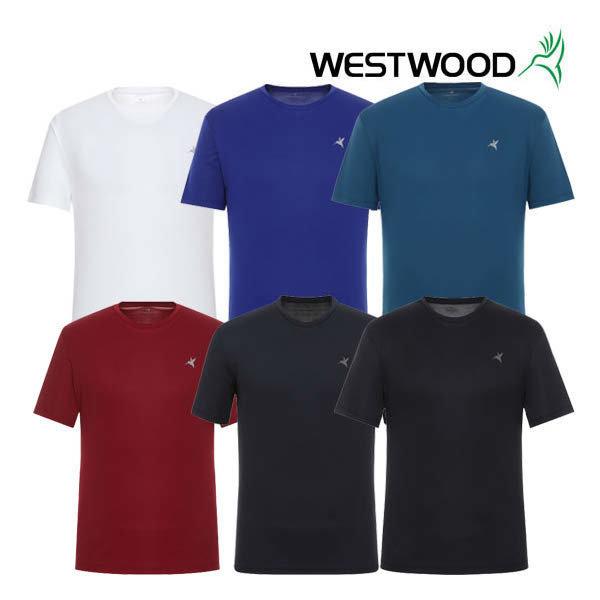 (현대백화점) 웨스트우드 남성 반팔 라운드 솔리드 티셔츠 WZ0MCCT755 :