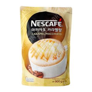 네스카페 마끼아또 카라멜향 커피믹스 900g 1box 믹스