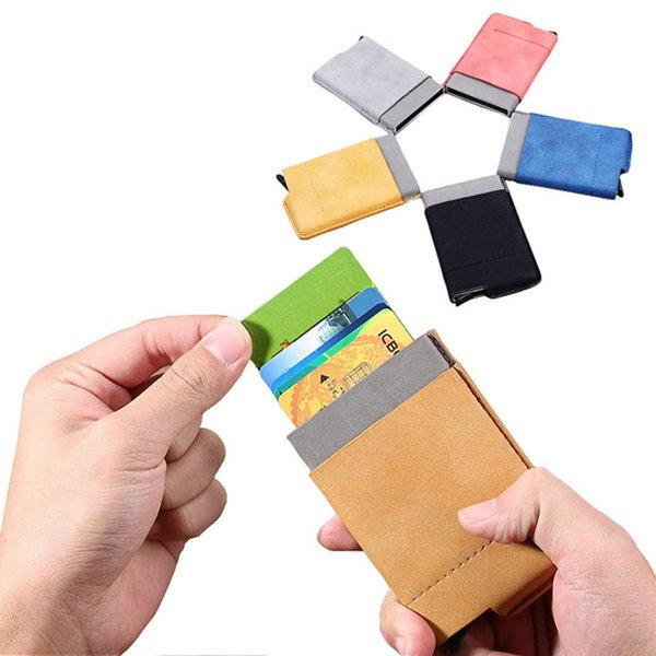 슬라이드 커플 카드지갑 자동 팝업 명함지갑