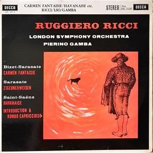 L4030- 클래식LP/ RUGGIERO RICCI (BIZET/SARASATE/SAINT-SAENS)-런던 심포니/PIERINO GAMBA