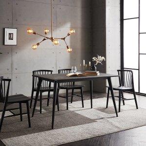 메일리 화산석 4인 식탁 세트 테이블 단품
