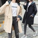 여성 후드집업 체크포인트 간절기 야상점퍼 캐주얼자켓