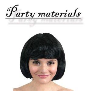 코스프레 단발머리 가발-블랙  패션잡화 패션가발 가