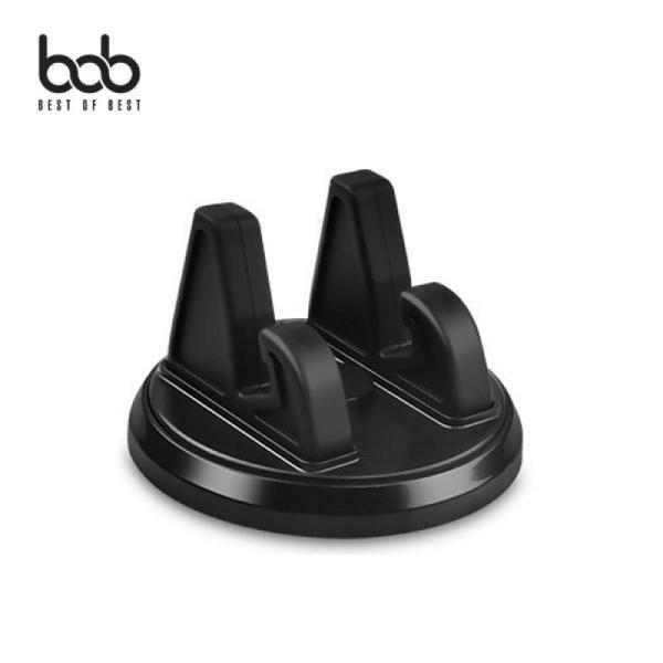 bob 미니 써클 회전 차량용 대시보드 스마트폰 거치대 360도 평행 회전 브라켓-비오비
