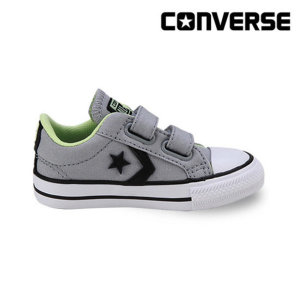 컨버스키즈  STAR PLAYER 2V OX WOLF GREY/BLACK 758362C