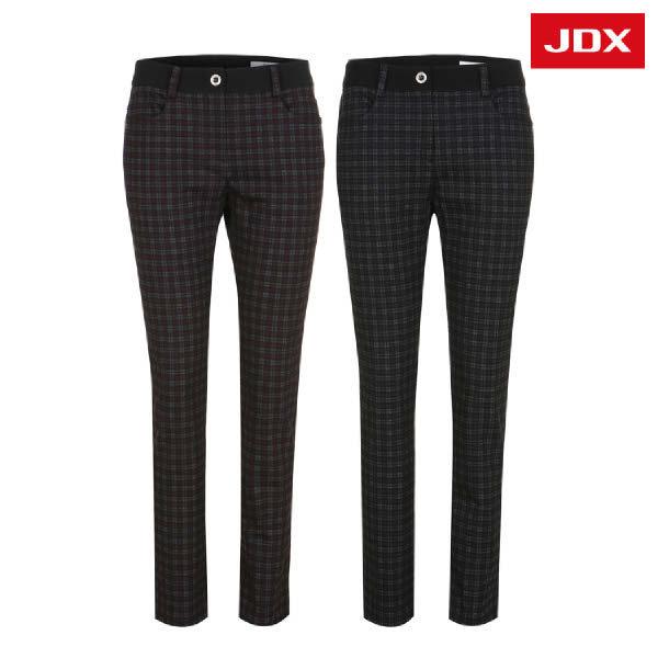 (현대Hmall) JDX  여성 체크 프린트 캐주얼 팬츠 2종 택 1 (X2PFPTW54)