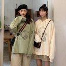 여성 후드티 맨투맨 티셔츠 루즈핏 간절기 프린트AK49