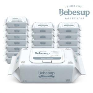 베베숲 아기물티슈 센시티브 엠보싱 캡 20팩+휴대8팩