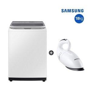 화이트 18KG  삼성 전자동 세탁기 화이트 18kg  WA18R7650GW