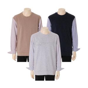 19 F/W   남  셔츠 배색 맨투맨티셔츠 (EPZ3TR1403)(갤러리아)