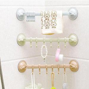1+1 욕실수건걸이 청소도구걸이 흡착식다용도걸이