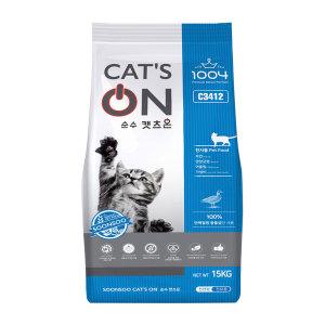 캣츠온15kg 대용량 길고양이 길냥이 사료 신제품