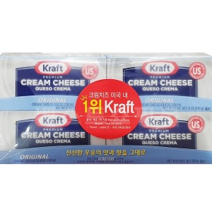 KRAFT 프리미엄크림치즈 226GX 4/원산지:미국/621605