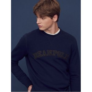 네이비 빈폴 레터링 스웨트 셔츠 (BC8741C15R)