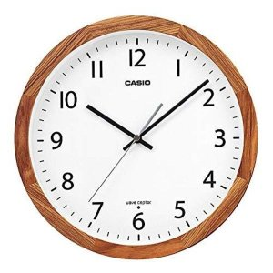 CASIO 카시오 벽시계 차 나무 직경 30.5cm 전파 시계