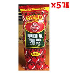 오뚜기 토마토케첩 300g X 5개 대용량 진한케�R 케찹