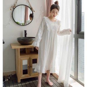 거즈 순면 롱 원피스잠옷 공주잠옷 홈에어 드레스