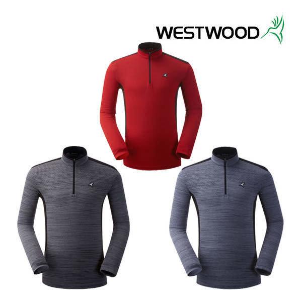(현대백화점) 웨스트우드 남성 긴팔 그라데이션 집업 티셔츠 WI3MTTS309 :