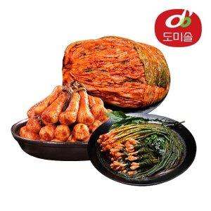 맛있는김치 도미솔 포기김치8kg+총각김치2kg+파김치1