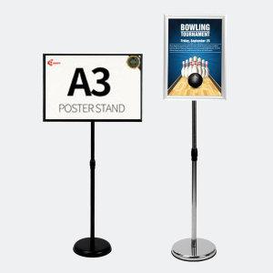 POP 포스터스탠드 입간판 안내판 거치대광고판 A3실버