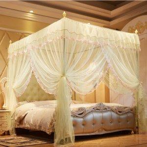 팰리스 커튼형 침대모기장(150 200cm)/사각 모기장